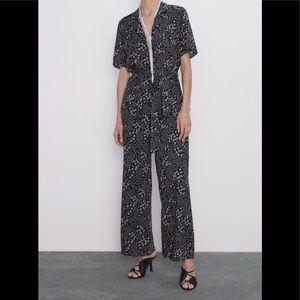 NWT Zara Long Print Jumpsuit